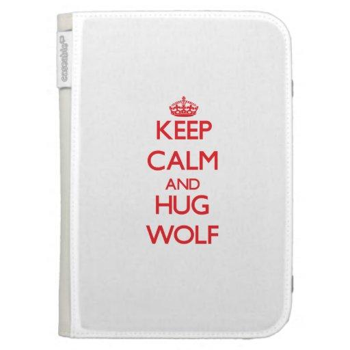 Mantenga lobo tranquilo y del abrazo