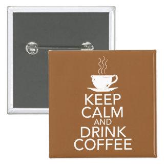 Mantenga los artículos tranquilos y de la bebida d pin cuadrado