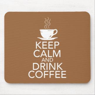 Mantenga los artículos tranquilos y de la bebida mouse pad