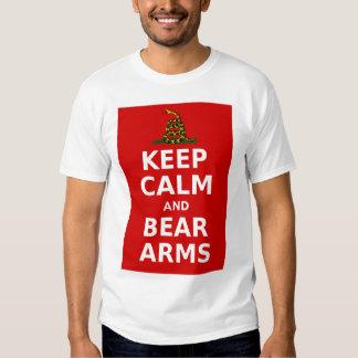 Mantenga los brazos tranquilos y del oso polera