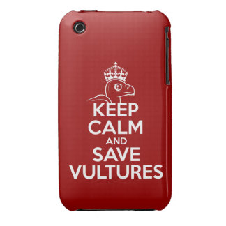 Mantenga los buitres tranquilos y de la reserva iPhone 3 Case-Mate cobertura