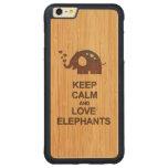 Mantenga los elefantes de la calma y del amor la funda de arce bumper carved® para iPhone 6 plus