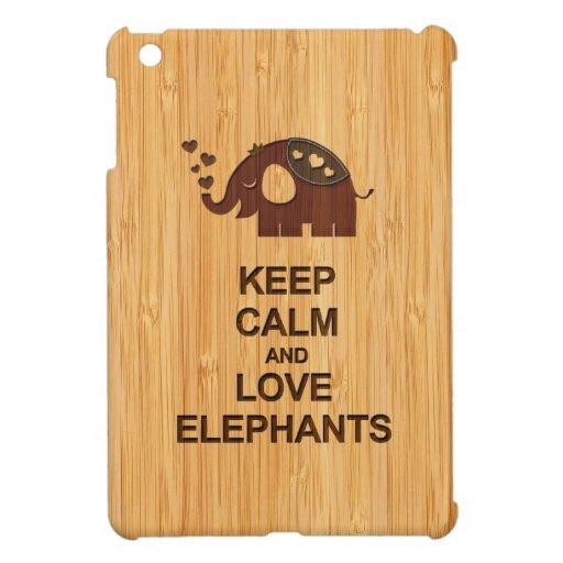 Mantenga los elefantes de la calma y del amor la m iPad mini carcasa