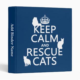 """Mantenga los gatos tranquilos y del rescate (en carpeta 1"""""""