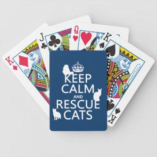 Mantenga los gatos tranquilos y del rescate en cu baraja