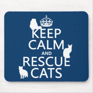 Mantenga los gatos tranquilos y del rescate (en cu tapetes de ratones