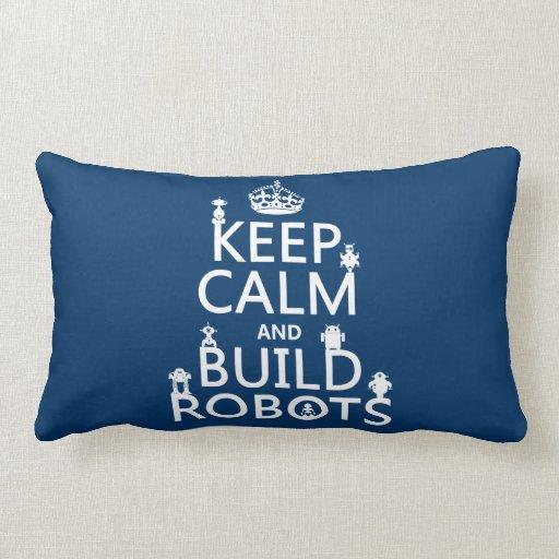 Mantenga los robots tranquilos y de la estructura  almohadas