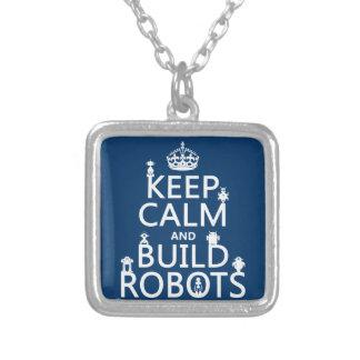 Mantenga los robots tranquilos y de la estructura  pendientes personalizados