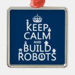 Mantenga los robots tranquilos y de la estructura  adorno de navidad