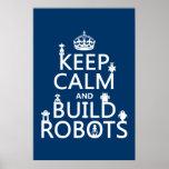 Mantenga los robots tranquilos y de la estructura  posters