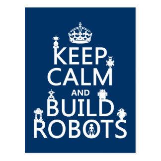Mantenga los robots tranquilos y de la estructura  tarjetas postales