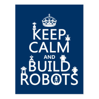 Mantenga los robots tranquilos y de la estructura  postal