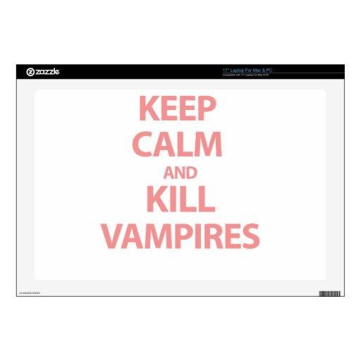 Mantenga los vampiros tranquilos y de la matanza 43,2cm portátil calcomanías