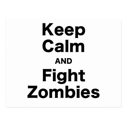 Mantenga los zombis tranquilos y de la lucha postal