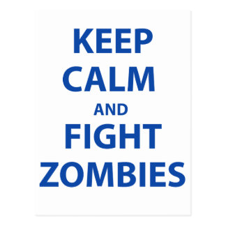 Mantenga los zombis tranquilos y de la lucha tarjetas postales