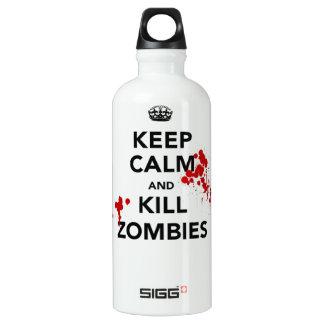 mantenga los zombis tranquilos y de la matanza botella de agua