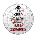 Mantenga los zombis tranquilos y de la matanza tablero dardos