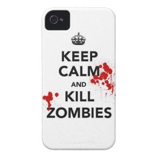 mantenga los zombis tranquilos y de la matanza Case-Mate iPhone 4 protectores