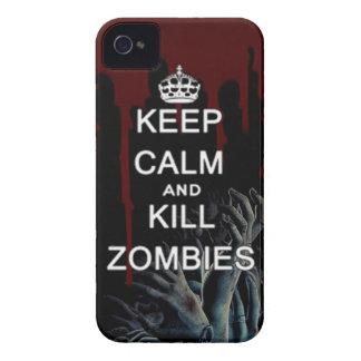 mantenga los zombis tranquilos y de la matanza iPhone 4 Case-Mate protector