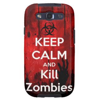 mantenga los zombis tranquilos y de la matanza samsung galaxy s3 protectores