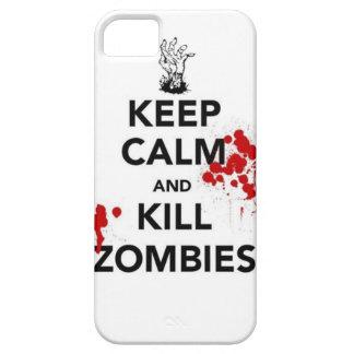 mantenga los zombis tranquilos y de la matanza iPhone 5 Case-Mate protectores