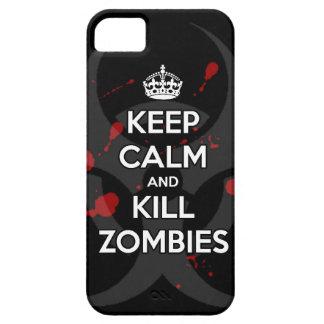 mantenga los zombis tranquilos y de la matanza iPhone 5 Case-Mate coberturas