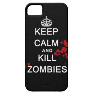 mantenga los zombis tranquilos y de la matanza funda para iPhone 5 barely there