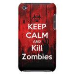 mantenga los zombis tranquilos y de la matanza Case-Mate iPod touch fundas