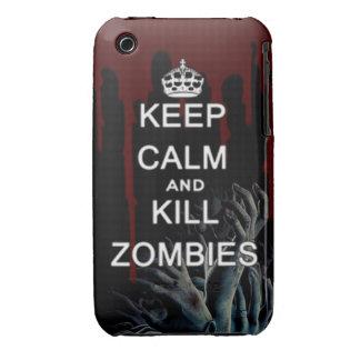 mantenga los zombis tranquilos y de la matanza iPhone 3 Case-Mate protector