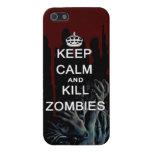 mantenga los zombis tranquilos y de la matanza iPhone 5 funda