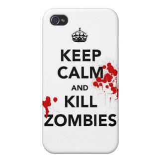 mantenga los zombis tranquilos y de la matanza iPhone 4/4S carcasas