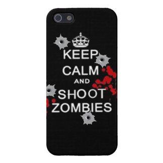 mantenga los zombis tranquilos y de la matanza iPhone 5 carcasa