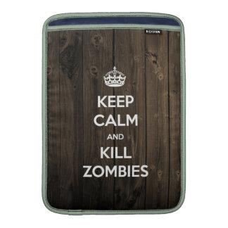 Mantenga los zombis tranquilos y de la matanza funda macbook air