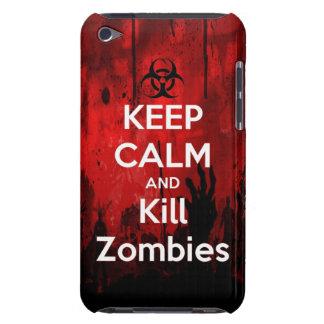 mantenga los zombis tranquilos y de la matanza funda para iPod