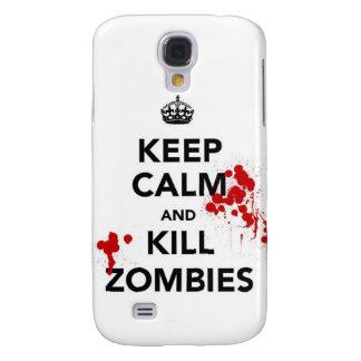 mantenga los zombis tranquilos y de la matanza funda samsung s4