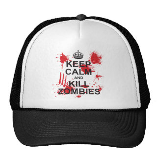 Mantenga los zombis tranquilos y de la matanza gorro de camionero