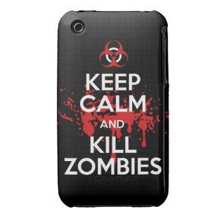 mantenga los zombis tranquilos y de la matanza iPhone 3 carcasas