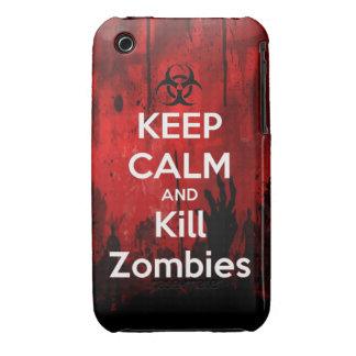 mantenga los zombis tranquilos y de la matanza iPhone 3 Case-Mate carcasa
