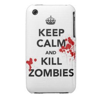 mantenga los zombis tranquilos y de la matanza iPhone 3 Case-Mate protectores