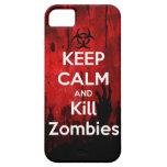 mantenga los zombis tranquilos y de la matanza iPhone 5 fundas