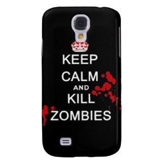 Mantenga los zombis tranquilos y de la matanza par carcasa para galaxy s4