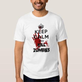 Mantenga los zombis tranquilos y de la matanza polera