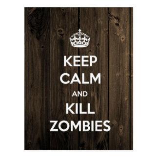 Mantenga los zombis tranquilos y de la matanza postal