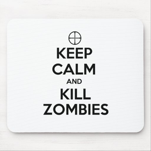 Mantenga los zombis tranquilos y de la matanza tapetes de ratones
