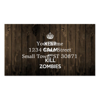Mantenga los zombis tranquilos y de la matanza tarjetas de visita