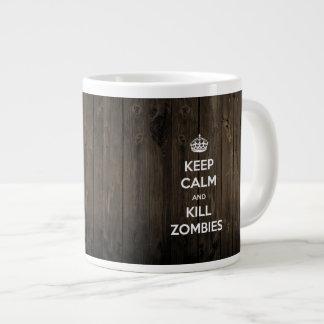 Mantenga los zombis tranquilos y de la matanza taza grande