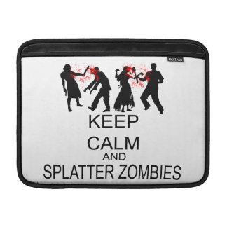 Mantenga los zombis tranquilos y de la salpicadura funda  MacBook