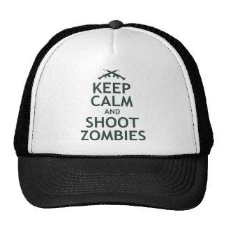 Mantenga los zombis tranquilos y del lanzamiento gorras de camionero
