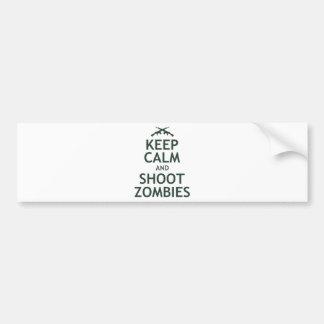 Mantenga los zombis tranquilos y del lanzamiento pegatina para auto