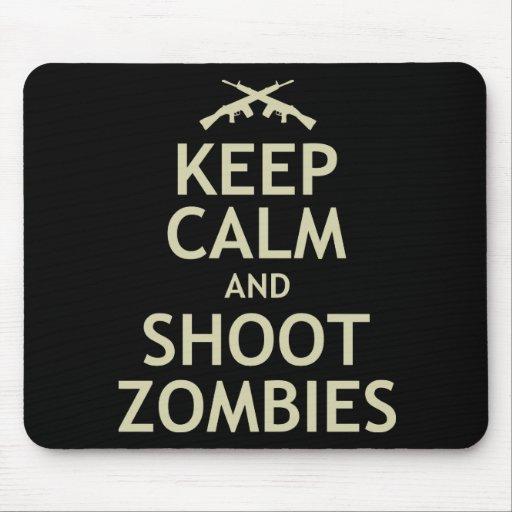 Mantenga los zombis tranquilos y del lanzamiento mousepad